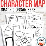 Character Maps Graphic Organizers, Character Traits Worksheet, Characterization
