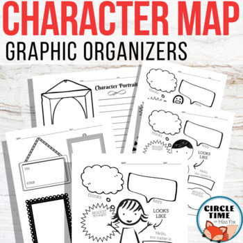 Character Maps Graphic Organizers, Character Traits Worksheet, Characterization