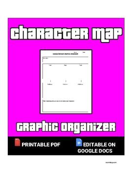 Character Map Organizer (Editable in Google Docs)