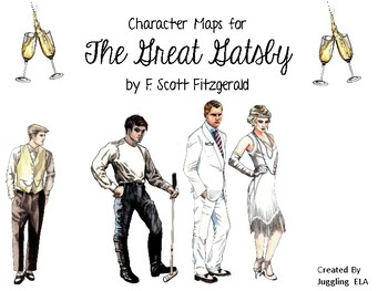 Character Maps for The Great Gatsby by F. Scott Fitzgerald
