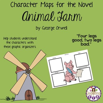 Character Maps For The Novel Animal Farm By George Orwell By Juggling Ela