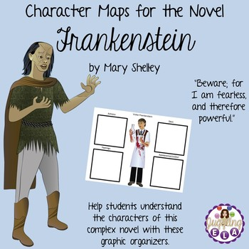 Character Maps for the Novel Frankenstein by Mary Shelley