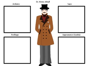 Character Maps for the book The Strange Case of Dr. Jekyll and Mr. Hyde