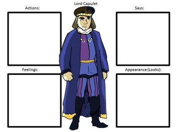 Character Maps for the play Romeo and Juliet by William Shakespeare