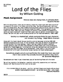 Character Mask--Lord of the Flies