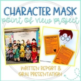 Point of View Character Mask Oral Presentation and Book Report Project
