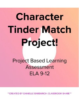 Character Match Tinder Project