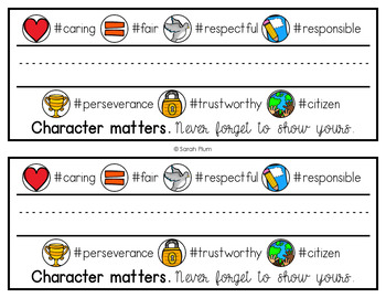 Character Matters: EDITABLE Name Tags #kindnessnation #weholdthesetruths