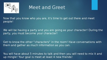 Character Meet and Greet Dystopian Books Lesson