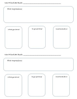 Character Meet and Greet Graphic Organizer