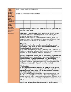 Character Mental State Guided Reading Lesson Plan (3 Days!)