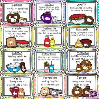 Character Mix and Match Lesson, Puzzles, and Posters With 21 Traits