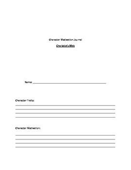 Character Motivation Journal