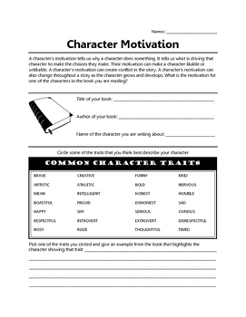 Character Motivation Reflection
