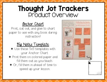 Character Motivation Thought Jot Tracker