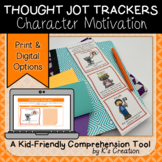 Reading Response: Character Motivation - A Comprehension Sticky Note Tracker