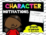 CHARACTER Motivations Graphic Organizer w/Text Evidence
