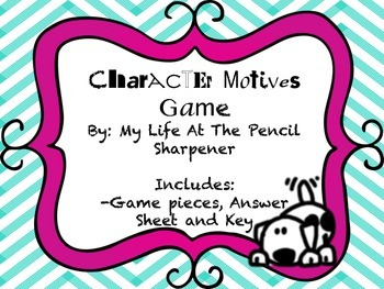 Character Motives and Traits Game