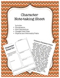 Character Note-taking Sheet