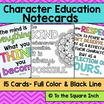 Character Notecards