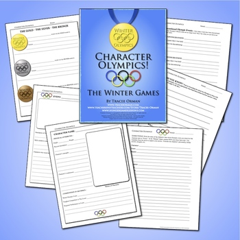 Character Winter Games Reading Literature Lesson Activity