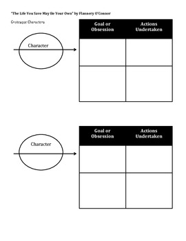 Character Organizer, The Life You Save May Be Your Own