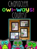 Character Owl-ways Counts Classroom Signs {Owl Themed}