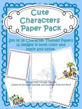 Character Paper Pack (12 border designs)