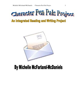Character Pen Pals Project