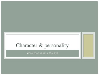 Character & Personality Powerpoint
