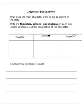 Character Perspective Worksheet