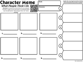 Character Point of View Fun Meme Activity