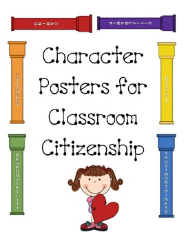 Character Poster for Classroom Citizenship