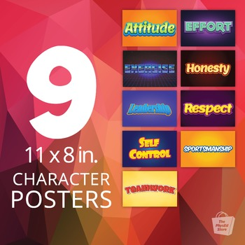 Character Posters | 11 x 8.5 in. Printable PDFs
