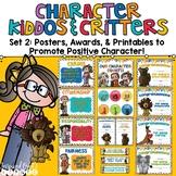 Character Education Posters, Awards, & Brag Badge Pack - Set 2