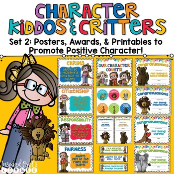 Promoting Good Character Posters, Awards, & Brag Badge Pac
