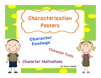 Character Posters: Feelings... by Renee Hardin | Teachers Pay Teachers