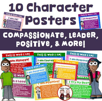 Character Posters for Promoting Positive Behaviors