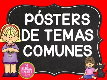 Character Posters in Spanish