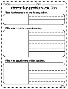 Character, Problem, and Solution Summary Chart