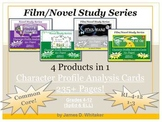 Character Profile Analysis Cards Bundle Common Core