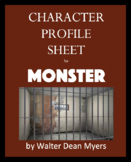 Character Profile Sheet for Monster - Walter Dean Myers