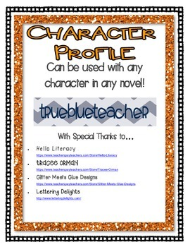 Character Profile for any Novel