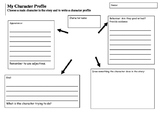 Character Profile graphic organiser