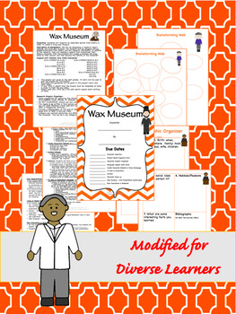 Wax Museum Biography Research 3-5 CCSS Aligned with Differentiated Options