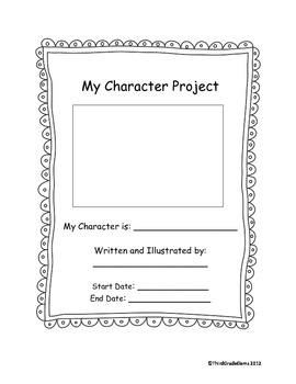 Character Project and Character Homework Sheet