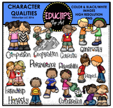 Character Qualities Clip Art Bundle {Educlips Clipart}