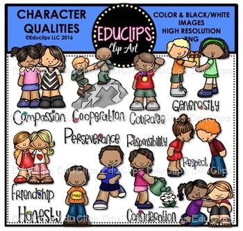Character Qualities Clip Art Bundle {Educlips Clipart}