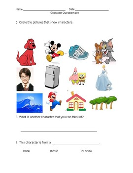 Character Questionaire