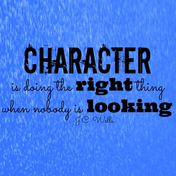 Character Quote Printable Poster